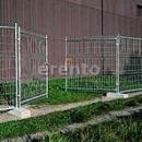 Mobilzaun (1 Zaun 3, 5m x 2m + 1 Stein ) Maschenweite 75x170mm