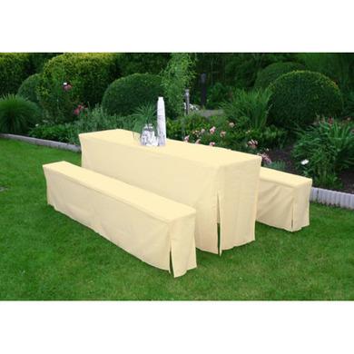 hussen f r bierzeltgarnitur 3teilig beige bierbank. Black Bedroom Furniture Sets. Home Design Ideas