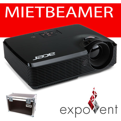 Beamer, Video- / Datenprojektor ( ACER 2.500-3.000 ANSI ) im Transportkoffer + 15m VGA-Kabel + Stromkabel
