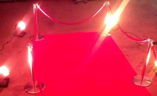 roter Teppich für Ihren Eingangsbereich, Bühne, Wand
