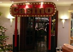 Themendekoration Casino - Eingang