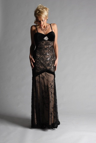 Evening Dress Hire on Black Lace Evening Dress  Evening Dress   4049705793   Erento Co Uk