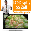"55"" LCD Display Fernseher TV Monitor 1.920 x 1.080"