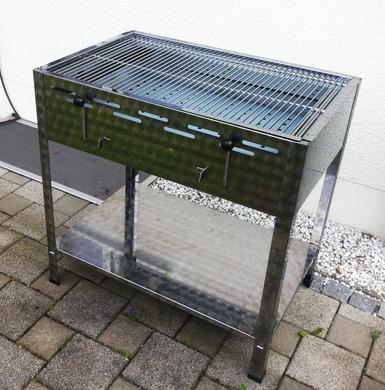 holzkohlegrill edelstahl profi grill 5156350268. Black Bedroom Furniture Sets. Home Design Ideas