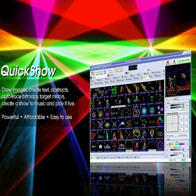 Laser - Laser Lasershow Laserverleih KVANT Spektrum 1,6 Watt LM RGB Full Color HIGH END Laserprojektor Grafik- Logo- & Beamshow Projektionen mit RGB-System inkl. PANGOLIN Lasersoftware Verleih mit und ohne Personal !