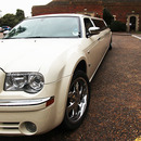 White Stretch Chrysler Limo Hire - Norfolk