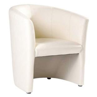 cocktail sessel lounge sessel in weis leder. Black Bedroom Furniture Sets. Home Design Ideas