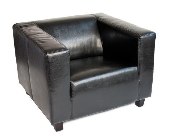 cocktailsessel loungesessel ledersessel schwarz qubic. Black Bedroom Furniture Sets. Home Design Ideas
