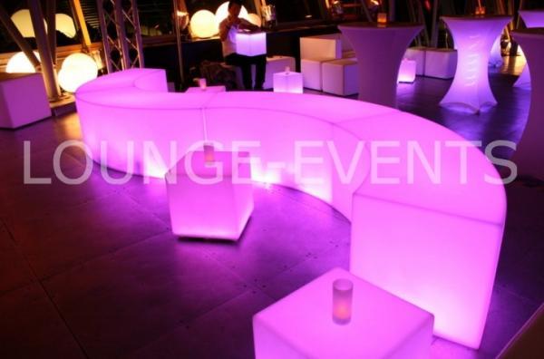 Loungemöbel - Loungemöbel & LED Möbel mieten/ White Lounge, Rattan ...