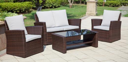 loungem bel sessel couch glastisch polyrattan loungem bel 3161381674. Black Bedroom Furniture Sets. Home Design Ideas