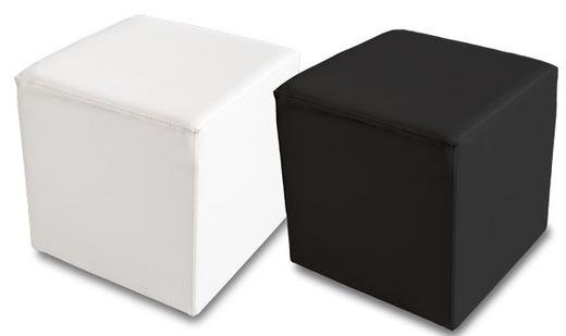 sitzw rfel sitzcube wei oder schwarz kunstleder qubo. Black Bedroom Furniture Sets. Home Design Ideas