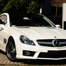 Mercedes Benz SL 550 Typ R230 in SL 63 AMG Optik - wei�, 388 PS ! Cabroilet / Coupe TRAUMWAGEN zum mieten !!!