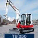 Bagger - Minibagger Takeuchi TB 250, 4, 9 to.