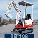 Bagger - Minibagger Takeuchi TB108, 0, 8 to.