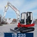 Bagger - Minibagger Takeuchi TB235, 3, 52 to.