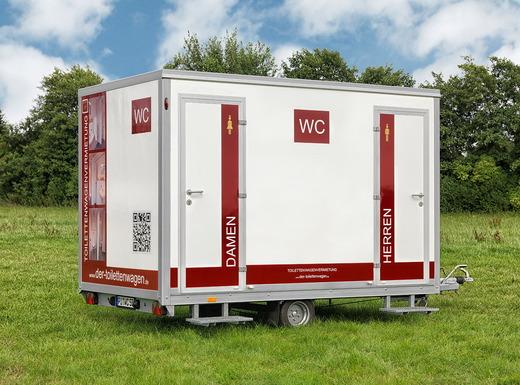 Stilvolle Toilettenwagen in verschiedenen Größen, Mobile ...
