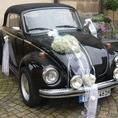 Hochzeitsauto, Kfer Cabrio, Oldtimer, Schwarz und schn, mit Chauffeur
