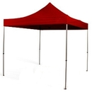 Faltpagodenpavillon rot (3x3 m)