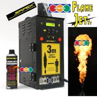 SAFEX Flamejettt DMX-Steuerbarer Flammeneffekt auf Aerosolbasis Pyrotec Flamemaster Flammerwerfer Flammenprojector Aersol Flammeneffekt bis zu 4m hohe Flammen Flamejett