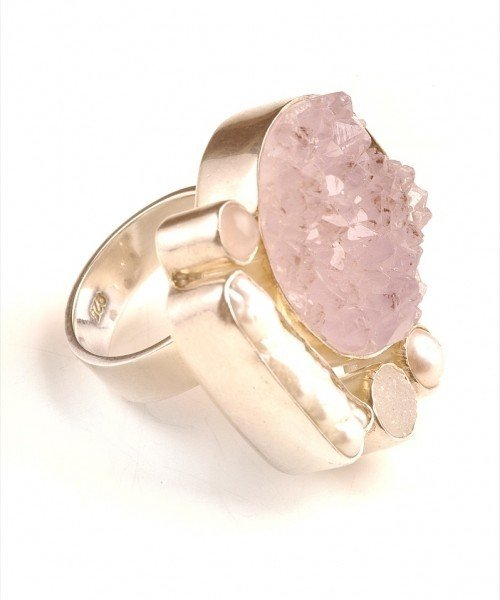 Ring - Rose Quartz Mother of Pearl Ring