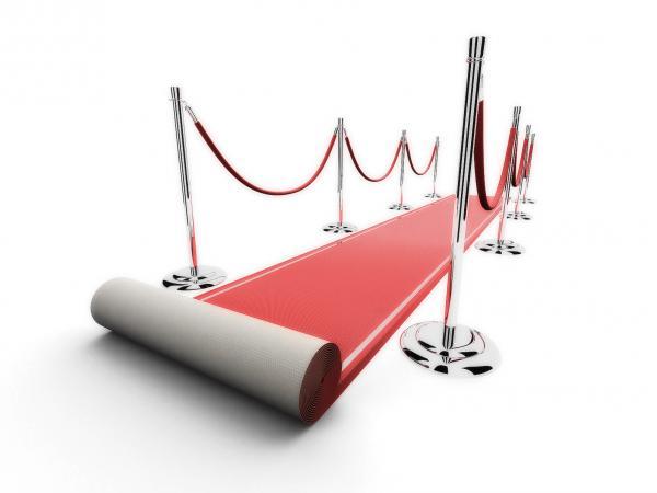 Roter Teppich  Teppich  rot  Bühne  Vlies  Flies