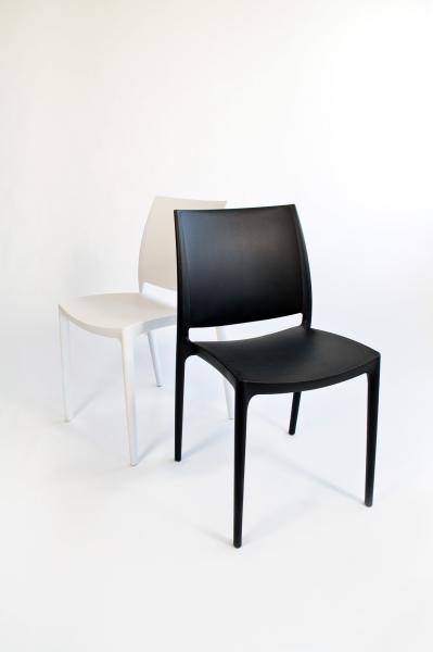 BANKETTSTUHL / Design Stuhl STYLO schwarz (oder weiß ...