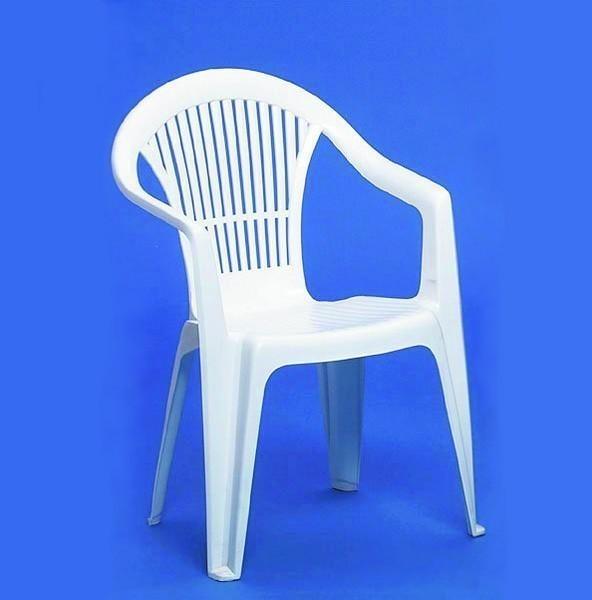 Kunststoffstuhl, Gartenmöbel, weiß, Stühle  1362240545  erento