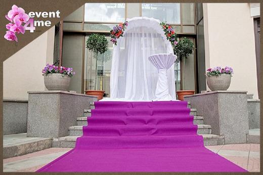 Hochzeits  Teppich, VIP  Event roter Teppich, Fuchsia