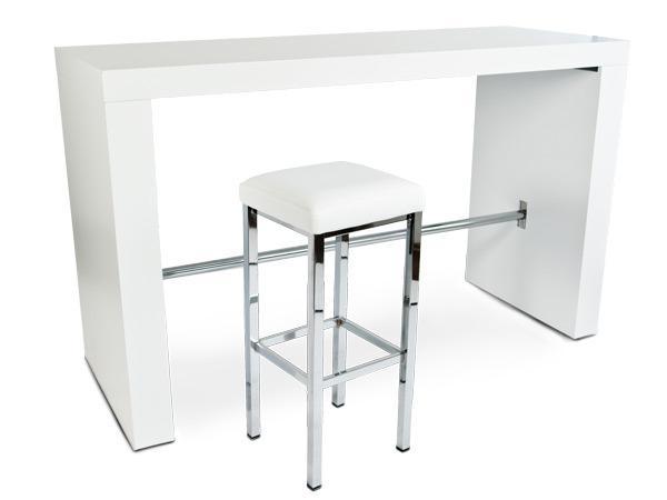 hochtisch br ckentisch hightable in schwarz oder wei. Black Bedroom Furniture Sets. Home Design Ideas