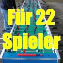 Mega Tisch Kicker XXXL, Kickertsich fr 22 Spieler - 2 komplette Fuballmannschaften ! Top-Attraktion fr die Fuball-Events, Fuball EM