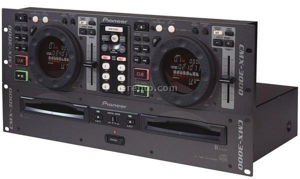 Tonregiepult & Mischpult - Pioneer CMX-3000 (Doppel-CD-Player, DJ-Player)
