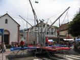 4er Bungeetrampolin inkl. 2 Betreuer, Bungee-Trampolin, Quartertrampolin, Quadro Trampolin, 