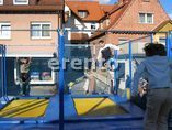 MobileTrampolinanlage mit 4 Riesensprungfeldern 