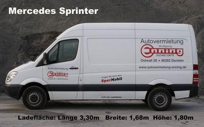 Transporter Mercedes Sprinter Ladefl&auml;che 3,30m