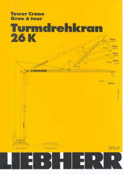 Turmdrehkran - Liebherr 26 K