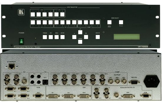 Kramer Video Mixer http://www.erento.co.uk/hire/photo-film-audio-video/video-tv/video-mixer/6836530909.html