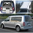 MINICAMPER / CAMPINGBUS - VW CADDY MAXI LIFE (Bj. 2009) - Individueller Urlaubsspa fr bis zu 4 Personen 