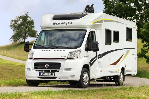 Wohnmobil - Sunlight T67 mit Einzelbetten und Hubbett