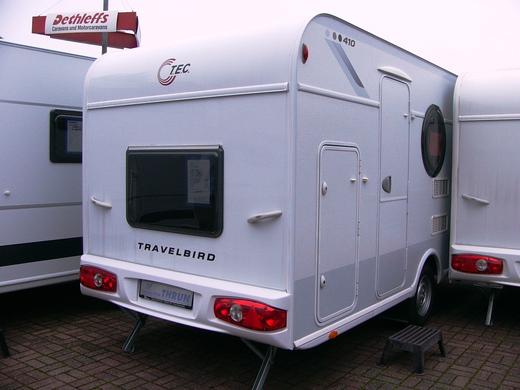 tec travelbird 410 mit etagenbetten und heckgarage wohnwagen 1911095063. Black Bedroom Furniture Sets. Home Design Ideas