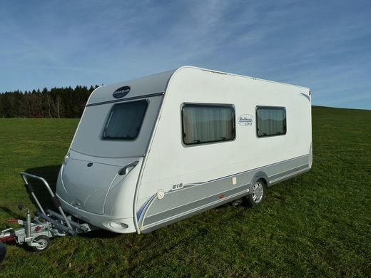 Wohnwagen Caravelair Ambiance 516 Style! 3 fach Etagenbett,Mover, Sat TV,Sonnensegel, Radtr&auml;ger