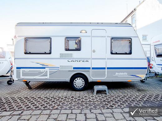 wohnwagen dethleffs camper 430t wohnwagen 3881952411. Black Bedroom Furniture Sets. Home Design Ideas