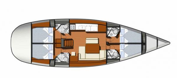 Yacht - Sailing Boat NEW (4Cab)