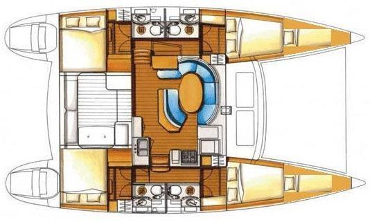 Yacht - Segelyacht Lagoon 380 (6Cab)