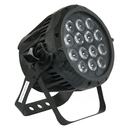 LED Scheinwerfer / Floorspot - Outdoor 14 x 9 W TriLED, DMX, schwarz, 25�, IP67