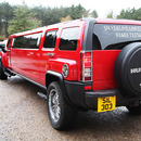 Red Stretch Hummer H3 Hire - Norfolk
