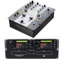 Pioneer DJM 250 American Audio DCD Doppel CD Player DJ Set Mischpult Mixer CD Player Controler